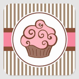 Old Fashioned Cupcake Sticker