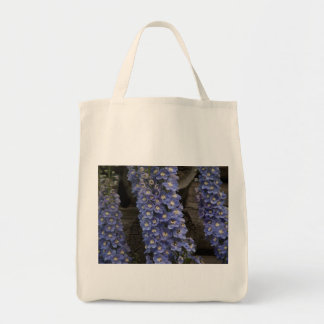 Old Fashioned Delphinium Grocery Tote Bag