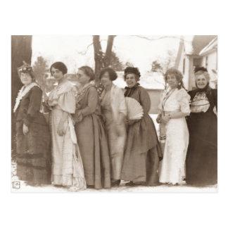 Old Fashioned Dresses Postcard