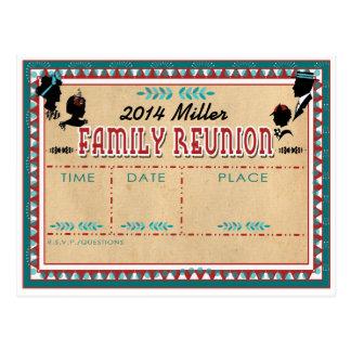 Old Fashioned Family Reunion - Invitation Postcard