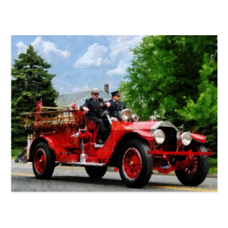 Old Fashioned Fire Truck Postcard