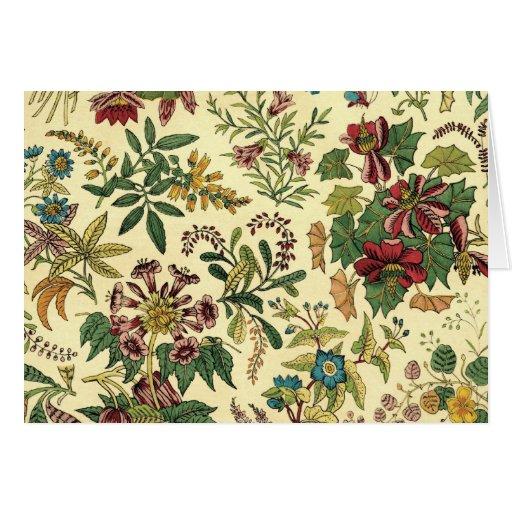Old Fashioned Floral Abundance Card