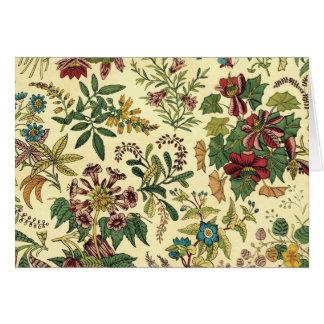 Old Fashioned Floral Abundance Greeting Card