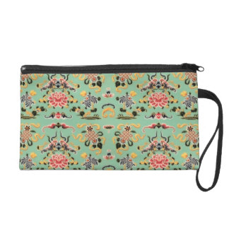 Old Fashioned Floral on Mint Wristlets