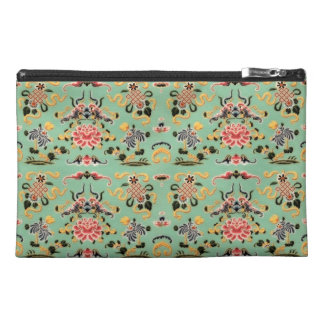 Old Fashioned Floral on Mint Travel Accessory Bags