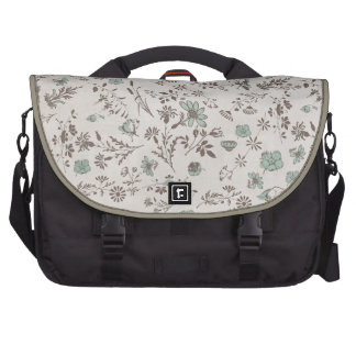 old fashioned Flowers Background Laptop Commuter Bag