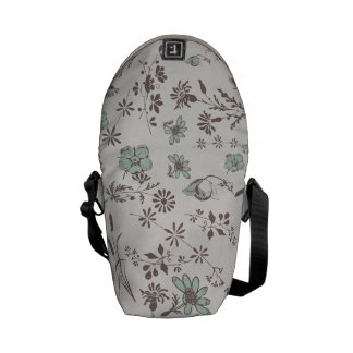 old fashioned Flowers Background Courier Bags