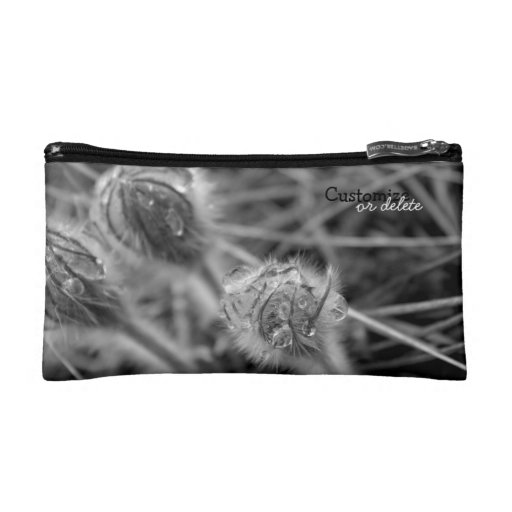 Old Fashioned Flowers; Customizable Makeup Bags