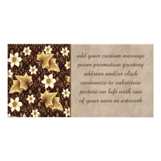 Old-Fashioned Flowers Photo Greeting Card