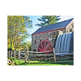 Old Fashioned Grist Mill Canvas Print