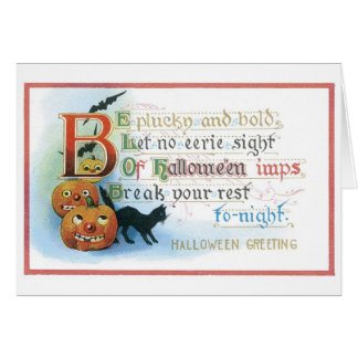 Old-fashioned Halloween Card