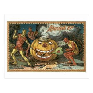 Old-fashioned Halloween, Devils Postcard
