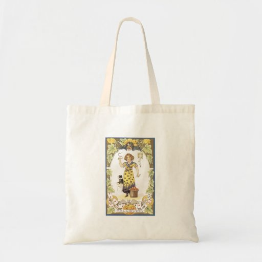 Old Fashioned Halloween Fortune Teller Tote Bags