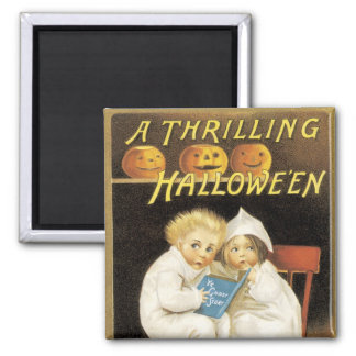 Old Fashioned Halloween Ghost Story Kids Square Magnet