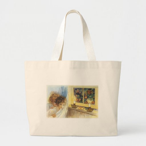 Old Fashioned Halloween Ghosts & Goblins Canvas Bags