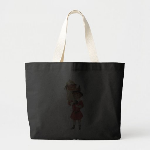 Old Fashioned Halloween Girl Tote Bags