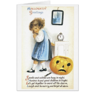 Old-fashioned Halloween, Girl Card