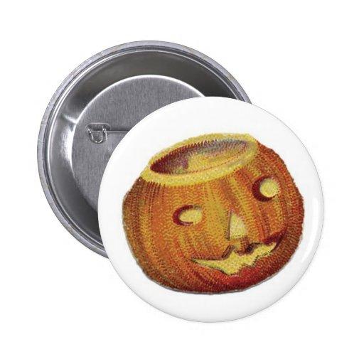 Old Fashioned Halloween Jack-O-Lantern Pinback Button