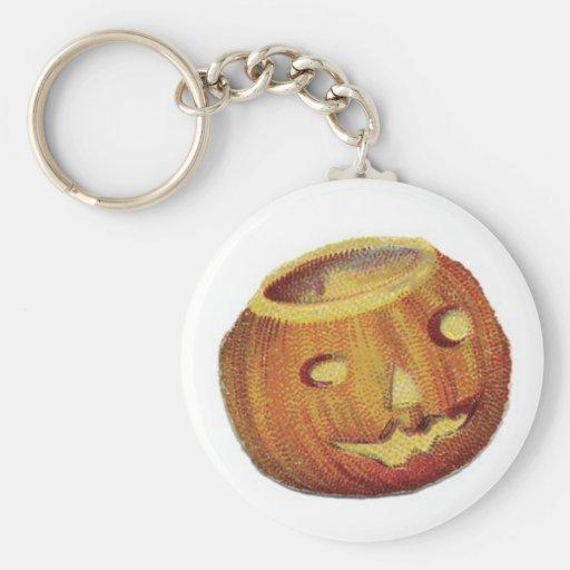 Old Fashioned Halloween Jack-O-Lantern Keychain