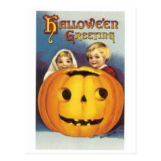 Old-fashioned Halloween, Jack-o'-lantern Postcard