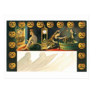 Old-fashioned Halloween, Pumpkin Postcard