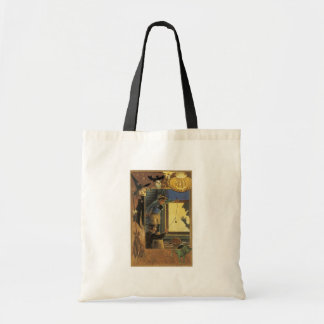 Old Fashioned Halloween Silhouette Canvas Bag