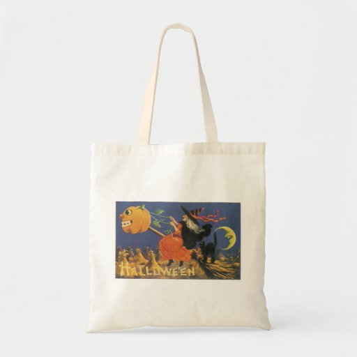Old Fashioned Halloween Witch Tote Bag