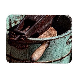 Old Fashioned Ice Cream Churn Rectangular Photo Magnet