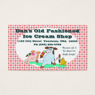 Old Fashioned Ice Cream Shop Business Card