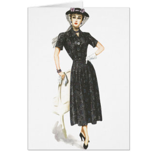 Old Fashioned Lady Greeting Cards