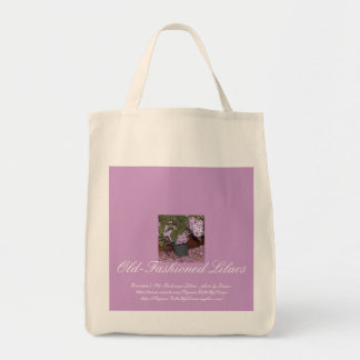 Old-Fashioned Lilacs Grocery Tote Bag