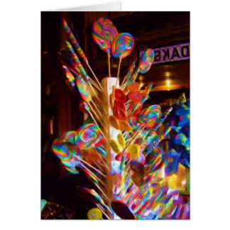 Old Fashioned lollipop display, Indianapolis, IN Card