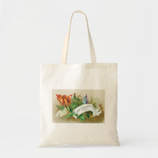 Old Fashioned  Merry Christmas To You Flowers Bags