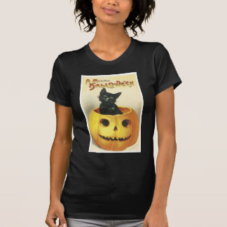 Old Fashioned Merry Halloween Cat T-Shirt