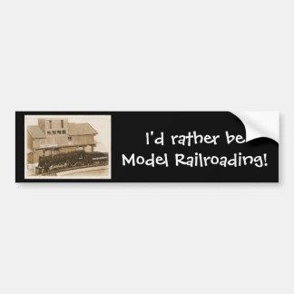 Old Fashioned Model Train Photo Bumper Sticker