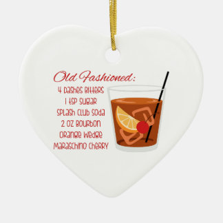 Old Fashioned Recipe Ceramic Ornament