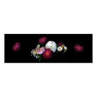 Old Fashioned Roses Bookmark Pack Of Skinny Business Cards
