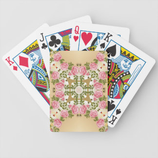 Old Fashioned Roses Golden Accents Bicycle Playing Cards
