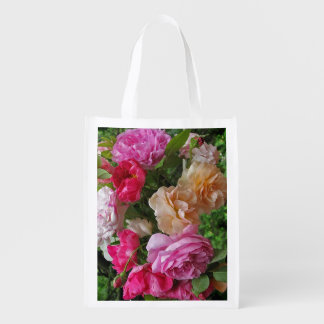 Old Fashioned Roses Reusable Grocery Bag