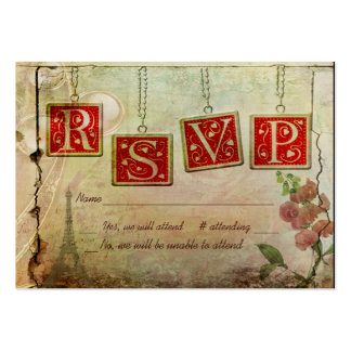 Old Fashioned RSVP Business Card