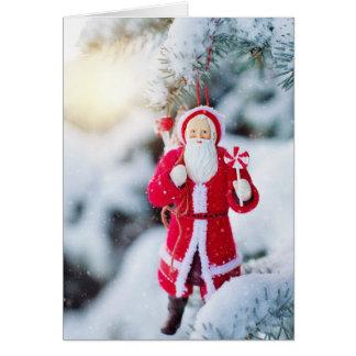 Old-Fashioned Saint Nicholas Santa Christmas Card