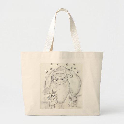 Old Fashioned Santa Canvas Bags