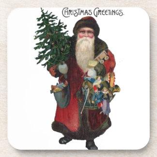 Old Fashioned Santa Claus Beverage Coasters