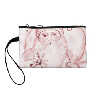 Old Fashioned Santa Claus in Red Change Purse