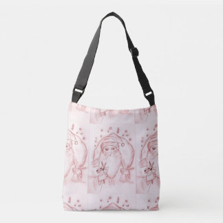 Old Fashioned Santa in Cranberry Crossbody Bag