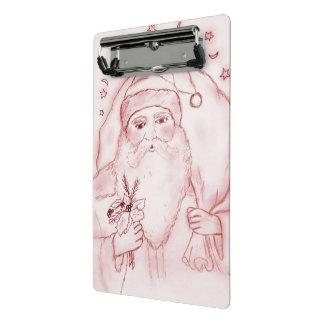 Old Fashioned Santa in Cranberry Mini Clipboard