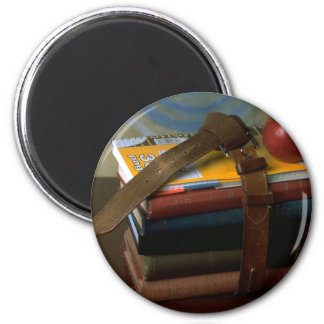 Old Fashioned School Books 6 Cm Round Magnet