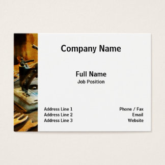 Old-Fashioned Sewing Machine Business Card