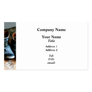 Old-Fashioned Shoes Business Card Templates