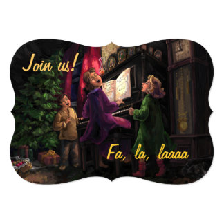 Old Fashioned Sing Along Party 13 Cm X 18 Cm Invitation Card